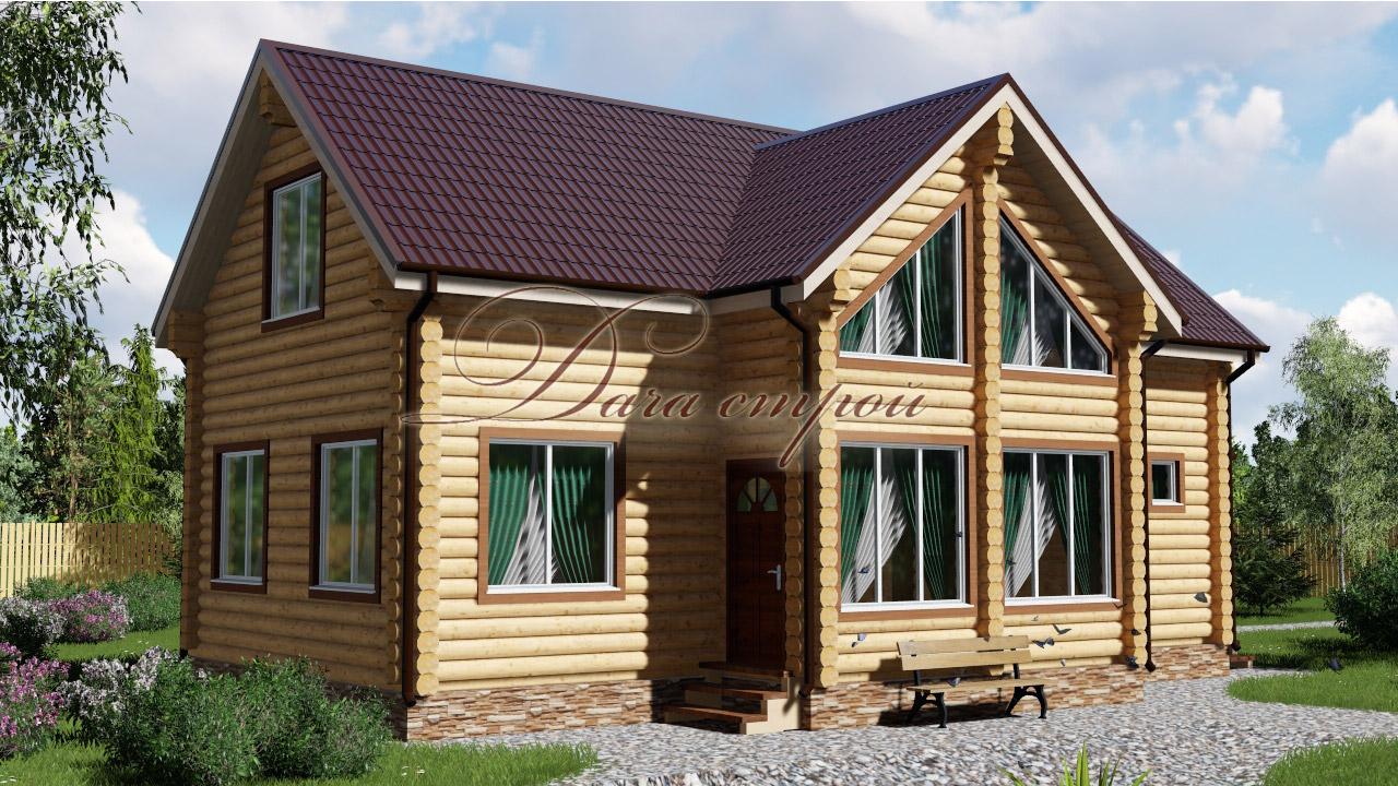 Дом из бревна «Уютный — 105»