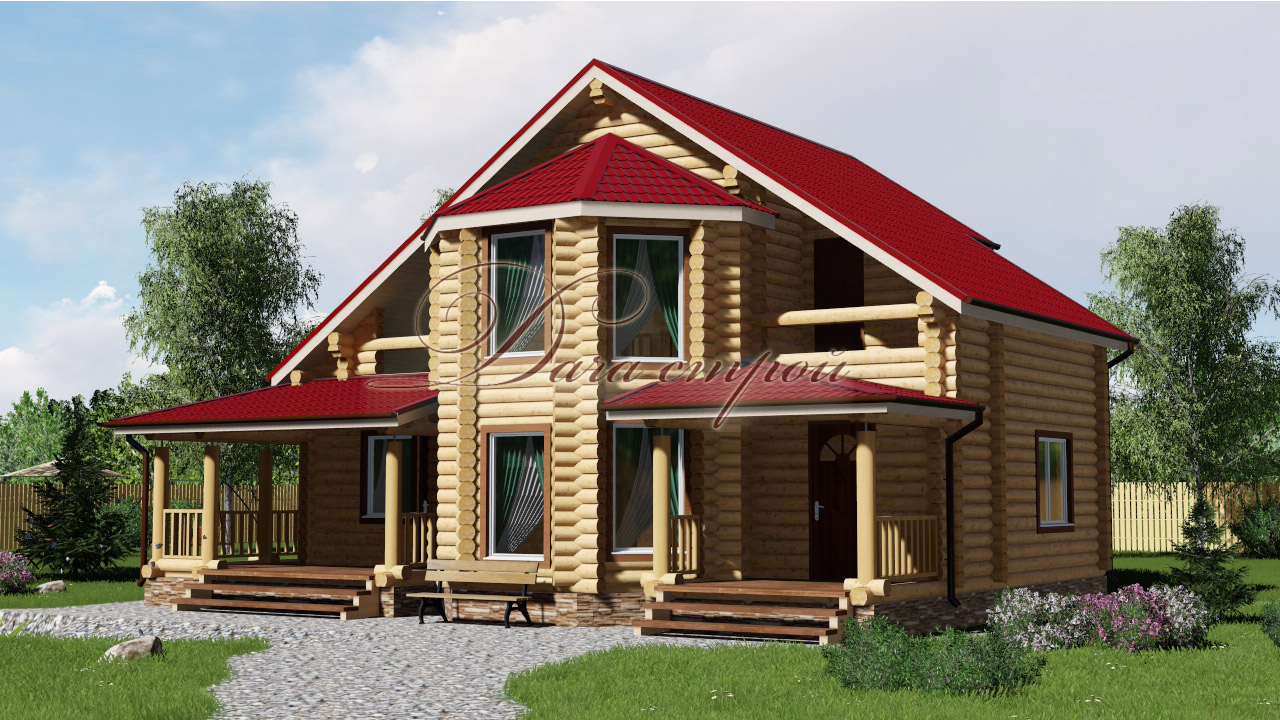 Дом из бревна «Элитный — 182»
