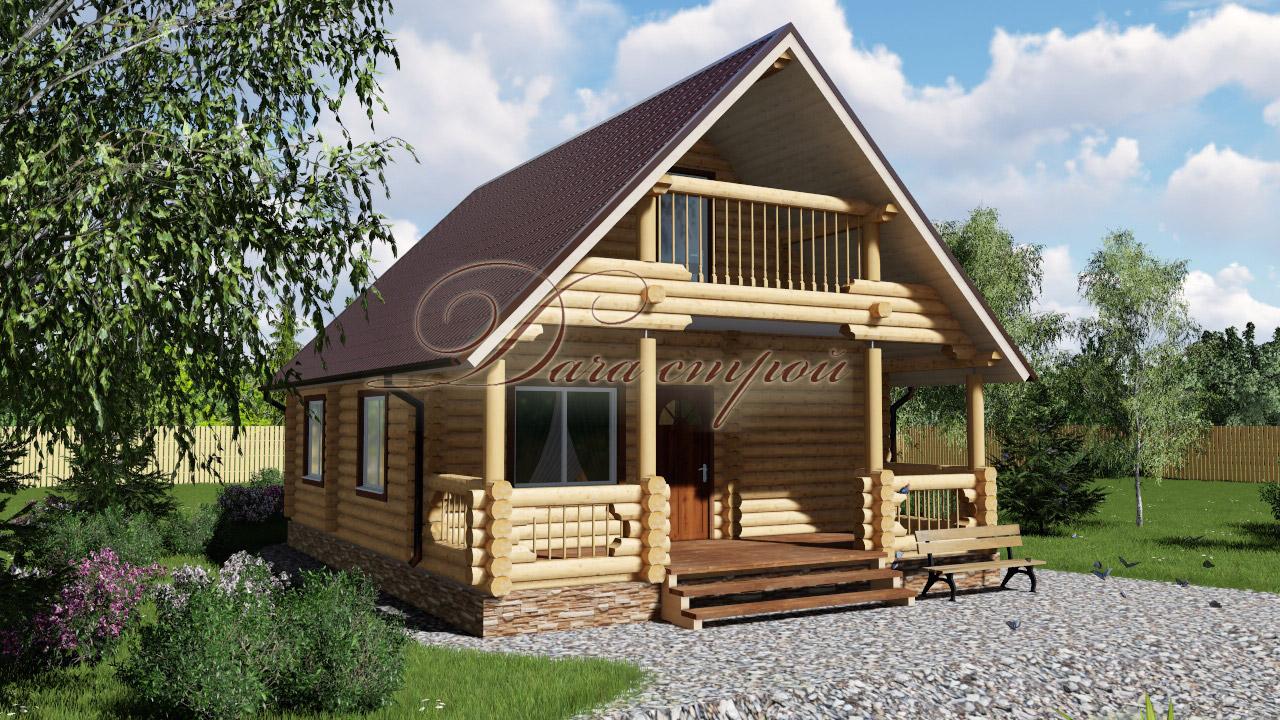 Дом из бревна «Уютный — 92»