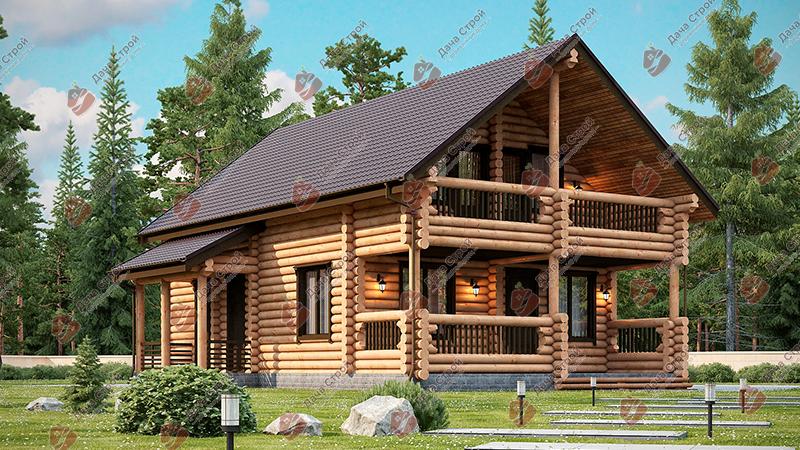 Дом из бревна «Комфорт — 159»