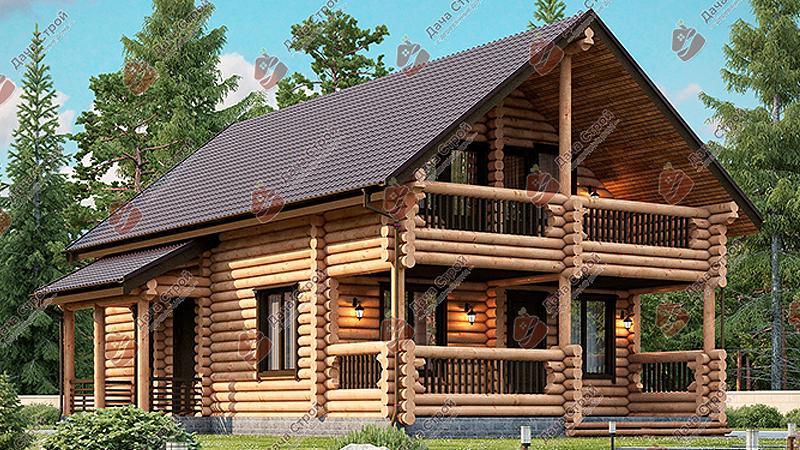 Дом из бревна «Комфорт — 202»