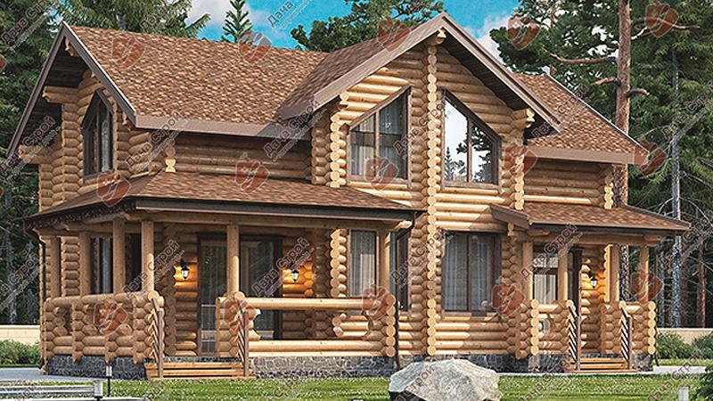 Дом из бревна «Уютный – 270»
