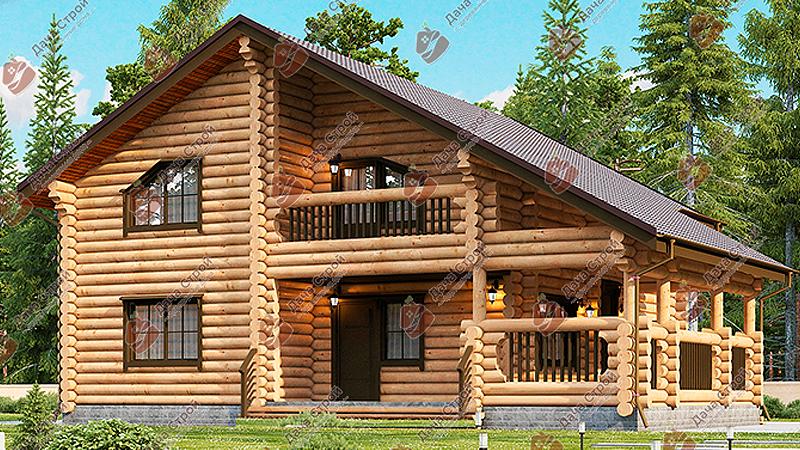 Дом из бревна «Элитный — 199»