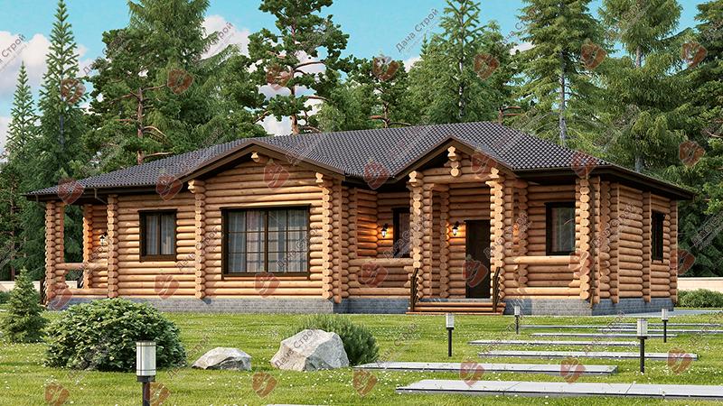 Дом из бревна «Уютный — 188»