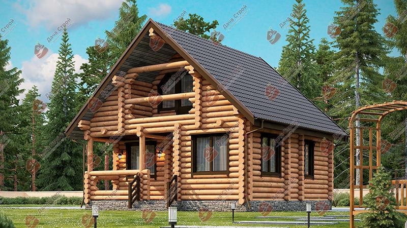Дом из бревна «Мечта — 130»