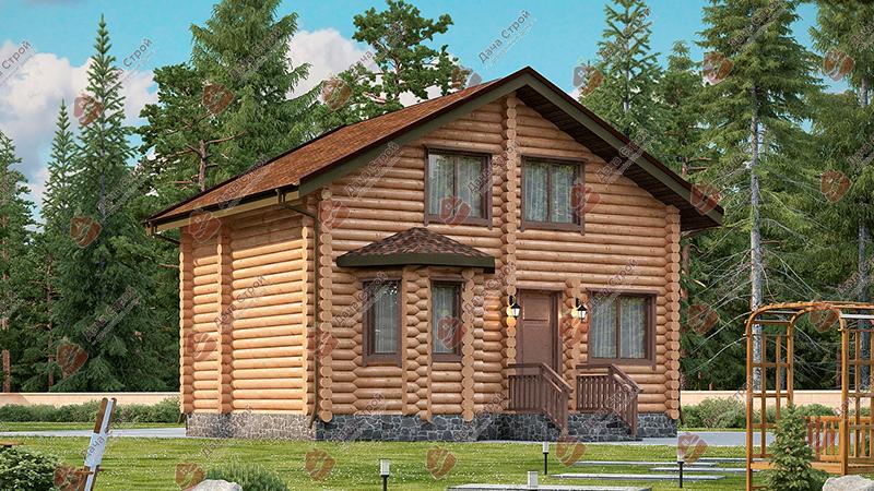 Дом из бревна «Уютный — 96»