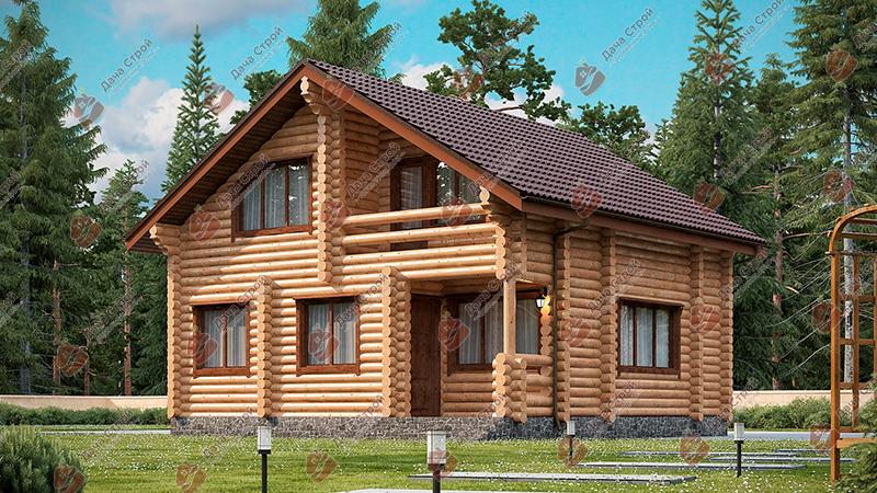 Дом из бревна «Комфорт — 155»