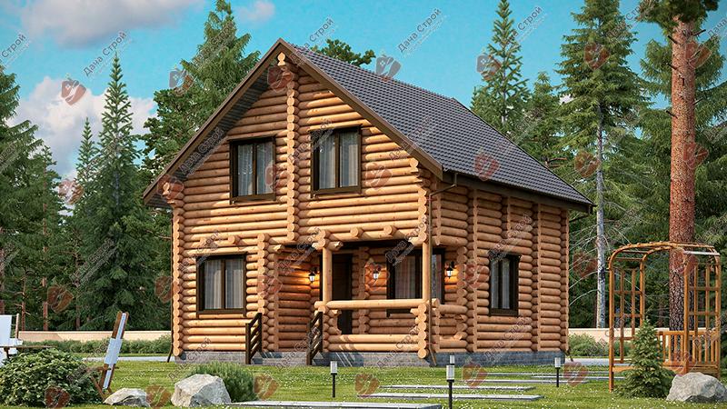 Дом из бревна «Мечта — 129»
