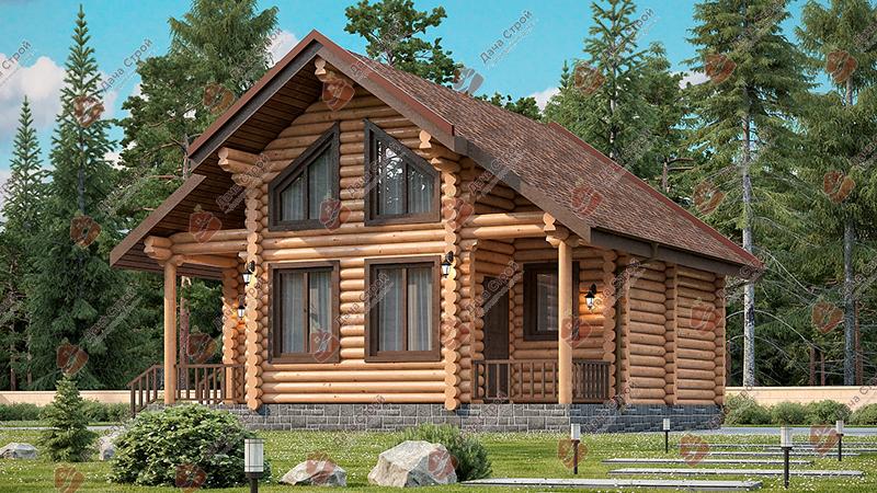 Дом из бревна «Уютный — 71»