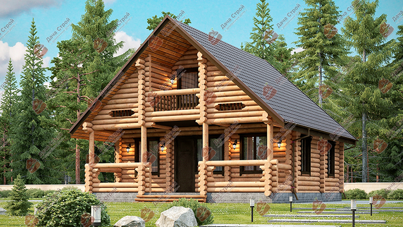 Дом из бревна «Комфорт — 149»