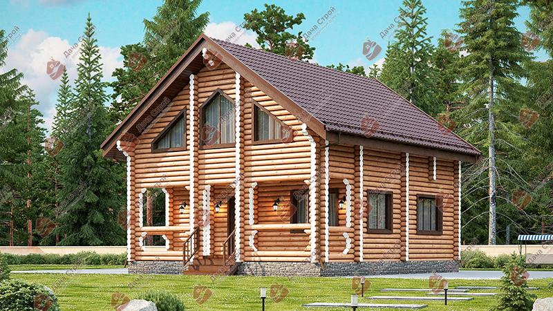 Дом из бревна «Уютный — 145»