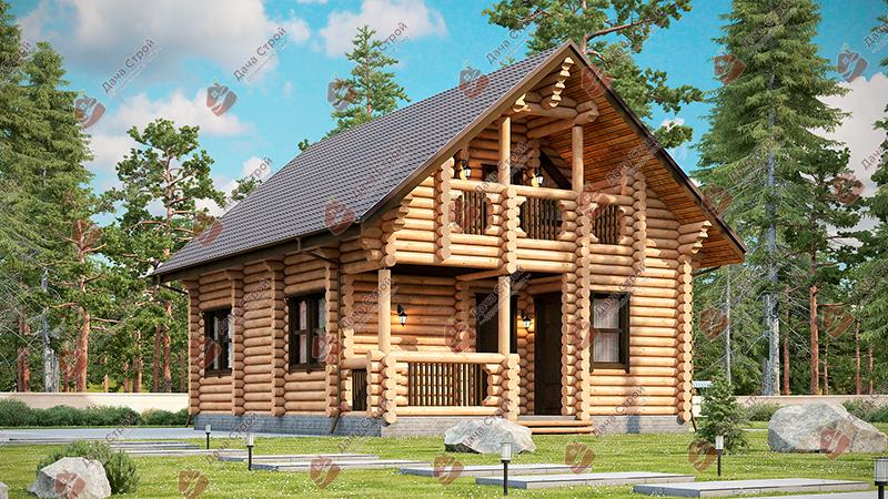 Дом из бревна «Мечта — 167»