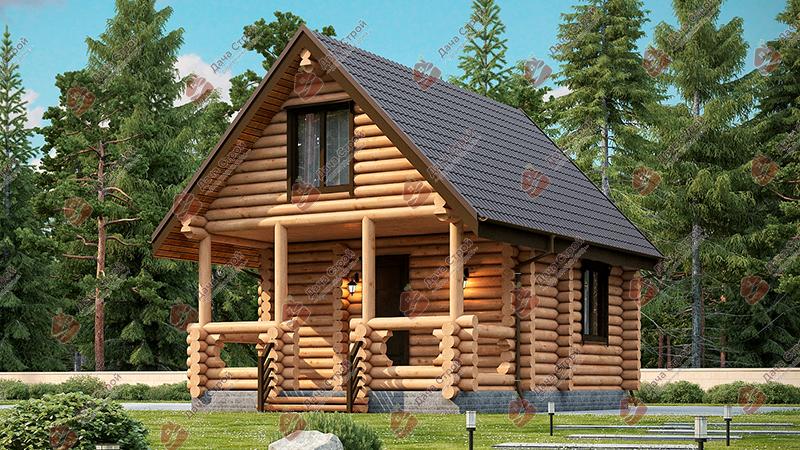 Дом из бревна «Уютный — 72»