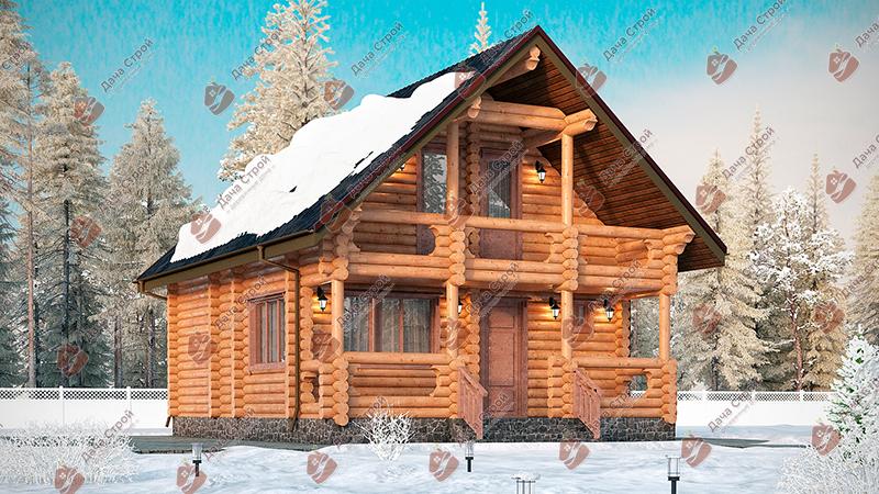 Дом из бревна «Мечта — 128»