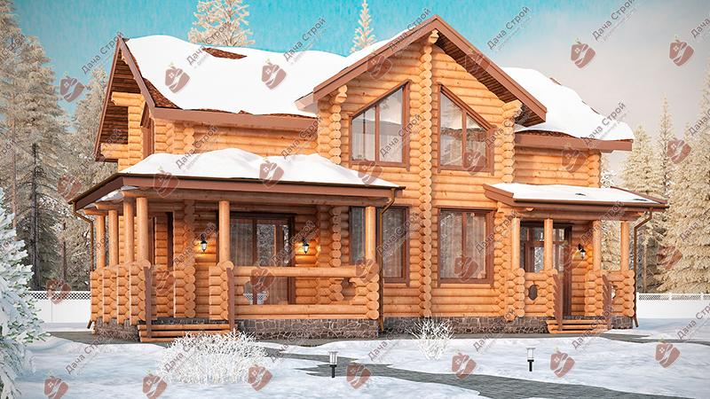 Дом из бревна «Уютный — 235»
