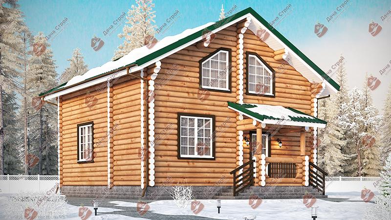 Дом из бревна «Мечта — 131»