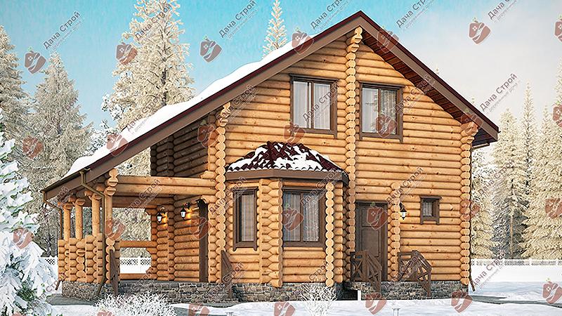 Дом из бревна «Мечта — 115»