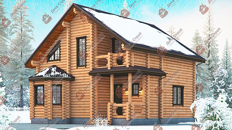 Дом из бревна «Элитный — 181»