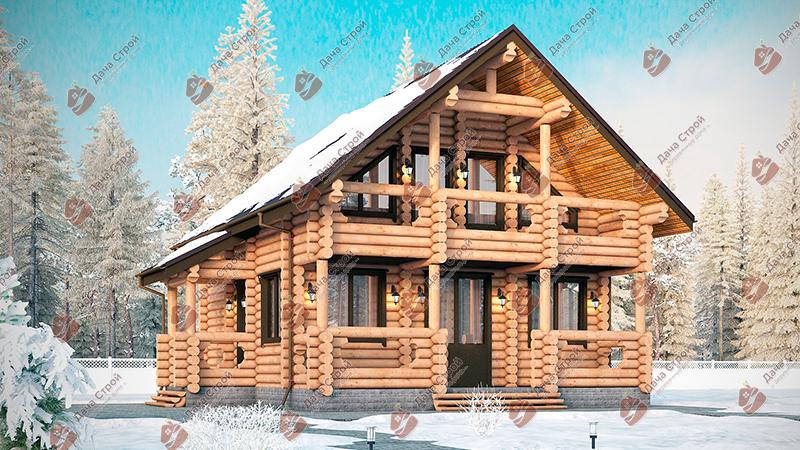 Дом из бревна «Комфорт — 153»