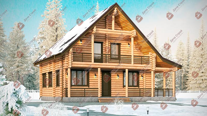 Дом из бревна «Элитный — 193»