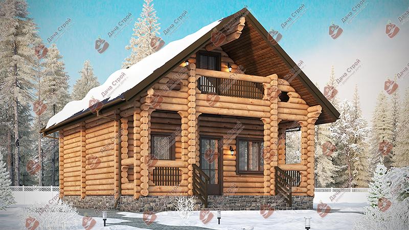 Дом из бревна «Мечта — 141»