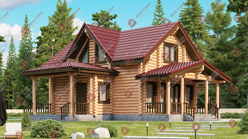 Дом из бревна «Мечта — 149»