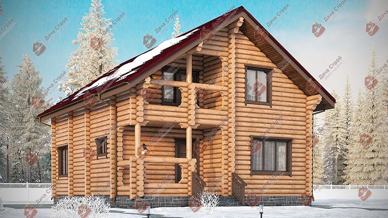Дом из бревна «Элитный — 175»