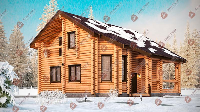 Дом из бревна «Элитный — 209»