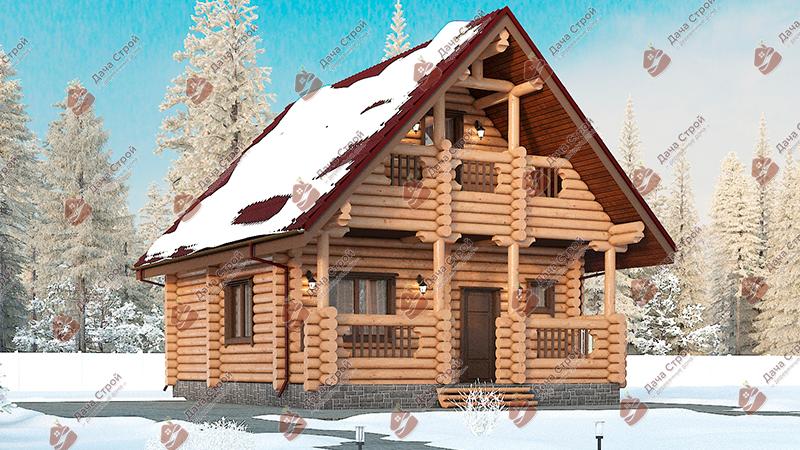 Дом из бревна «Мечта — 126»