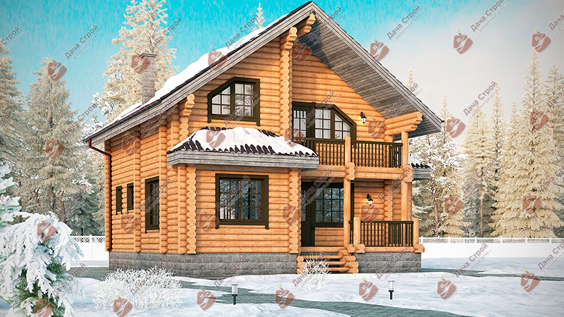Дом из бревна «Элитный — 190»