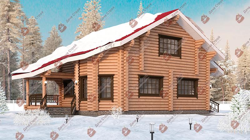 Дом из бревна «Элитный — 174»