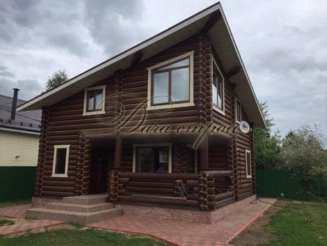 Индивидуальный дом из оцилиндрованного бревна -14