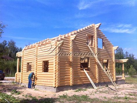 Индивидуальный дом из оцилиндрованного бревна -13