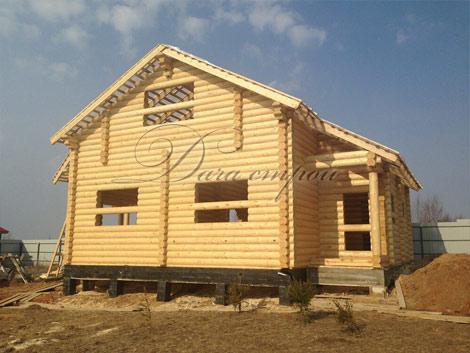 Индивидуальный дом из оцилиндрованного бревна -12