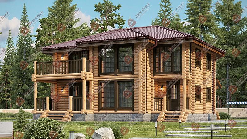 Дом из бревна «Элитный — 208»