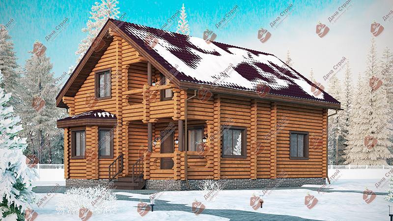 Дом из бревна «Элитный — 170»