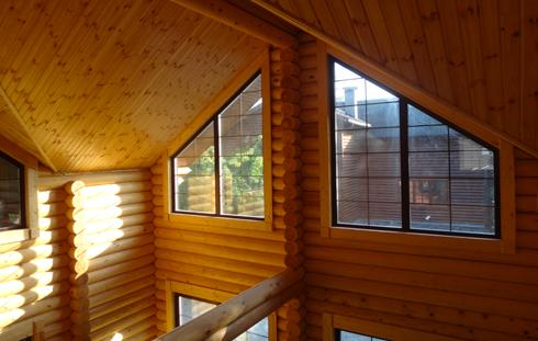 Дома, бани, из оцилиндрованного бревна 1-3 Отделка деревянного дома