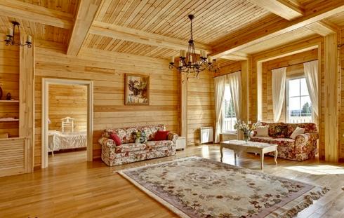 Дома, бани, из оцилиндрованного бревна 2-2 Отделка деревянного дома