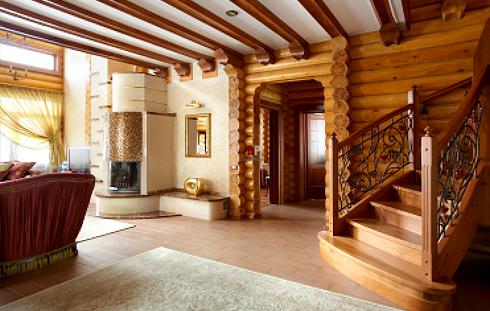 Дома, бани, из оцилиндрованного бревна 3-2 Отделка деревянного дома