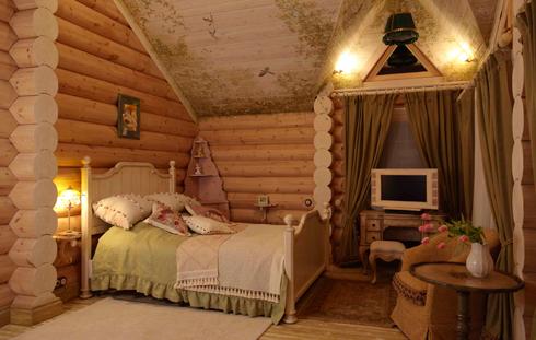 Дома, бани, из оцилиндрованного бревна 5-2 Отделка деревянного дома