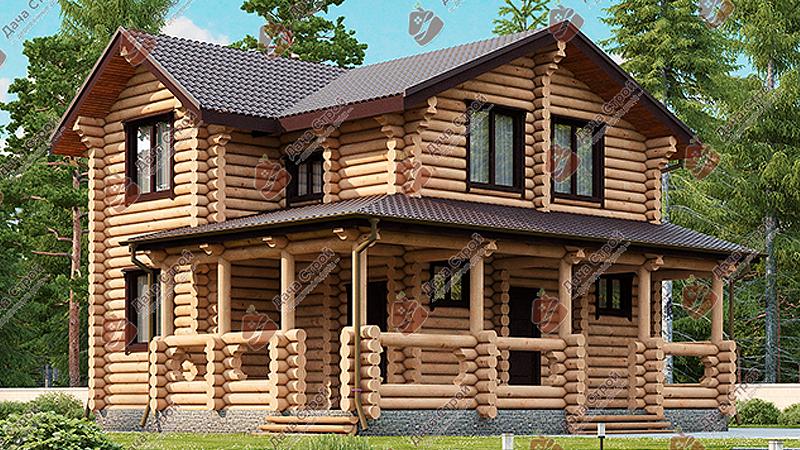 Дом из бревна «Комфорт — 154»
