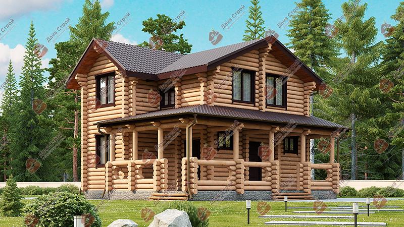 Дом из бревна «Комфорт — 146»