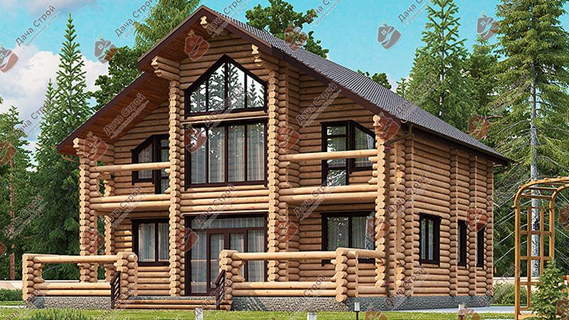 Дом из бревна «Элитный — 265»