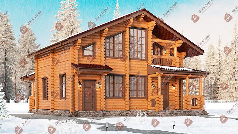 Дом из бревна «Элитный — 191»