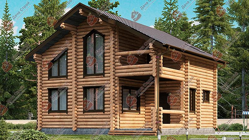 Дом из бревна «Элитный — 160»