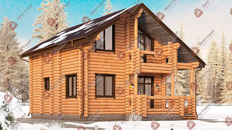 Дом из бревна «Мечта — 156»
