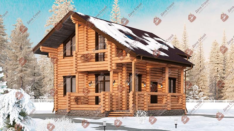 Дом из бревна «Мечта — 165»