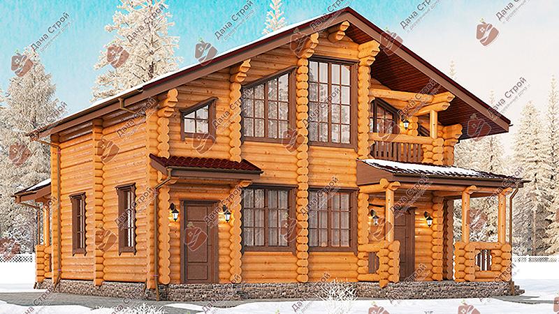 Дом из бревна «Элитный — 207»