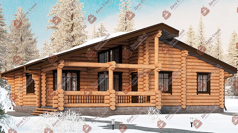Дом из бревна «Комфорт — 110»