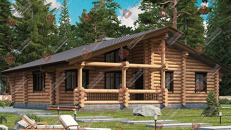 Дом из бревна «Комфорт — 135»